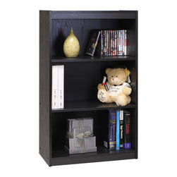 Furinno - Furinno 11138 Tiada No Tools Bookcase, Black - Furinno Tiada Series No Tools Technique Storage and Organization Series are designed to fit in your space, your style and at the same time fits on your budget. (1) Unique Structure: Open display rack, shelves provide easy storage and display for decorative and home living accessories. Suitable for rooms needing vertical storage area. (2) Easy No Tools Technique Assembly: with reference to the assembly instruction, this unit can be assembled in as short as 30 minutes. Designed to meet the demand of low cost but durable and efficient furniture. It is proven to be the most popular rta furniture due to its functionality, price, and the no hassle assembly. (2) Click n Easy No Tools Technique Assembly: with reference to the assembly instruction, this unit can be assembled in as short as 30 minutes. Designed to meet the demand of low cost but durable and efficient furniture. (3) The  Particleboard is made from recycled materials of rubber trees, eco-friendly. All the materials are manufactured in Malaysia and comply with the green rules of production. There is no foul smell, durable and the material is the most stable amongst the particleboards. A simple attitude towards lifestyle is reflected directly on the design of Furinno Furniture, creating a trend of simply nature. All the products are produced and packed 100-percent in Malaysia with 90% - 95% recycled materials. Care instructions: wipe clean with clean damped cloth. Avoid using harsh chemicals.  Pictures are for illustration purpose. All decor items are not included in this offer.