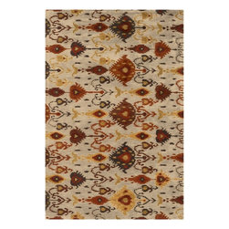 Surya - Surya Surroundings Transitional Hand Tufted Wool Rug X-118-8001RUS - Marvelous medallions and exquisite Ikat designs describe Surya's Surroundings Collection. Hand tufted from 100% New Zealand wool these rugs are masterfully crafted in deep earth tones.