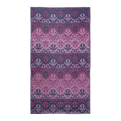 Sari Border Floor Mat, Ruby, 5