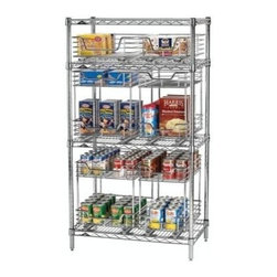 Household Essentials - Chrome Brackets, Chrome - Set of 8 - Our Chrome Brackets are commercial grade and designed for use with Household Essentials' under-cabinet organizers. The easy-to-install adapter brackets allow you to adapt most of your under-cabinet Glidez organizers for attachment to most commercial steel shelving units. Sturdy, full extension ball-bearing glides function, giving you full access hard to reach shelves and will not interfere with your Glidez organizer's Quikfit technology.