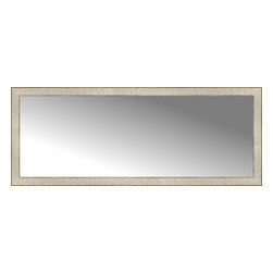 """Posters 2 Prints, LLC - 56"""" x 22"""" Libretto Antique Silver Custom Framed Mirror - 56"""" x 22"""" Custom Framed Mirror made by Posters 2 Prints. Standard glass with unrivaled selection of crafted mirror frames.  Protected with category II safety backing to keep glass fragments together should the mirror be accidentally broken.  Safe arrival guaranteed.  Made in the United States of America"""