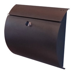 SPIRA MAILBOX - Spira WallBox Mailbox, Matte Black - Contemporary stainless steel 304 wall mounted mailbox with secure locking door (3 keys).  Comes in stainless steel or matte black finish.  Installs easily with 4 fasteners (provided).