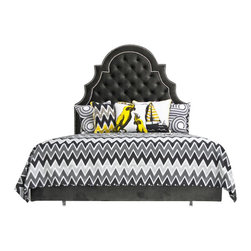 Zig Zag Bedding Grays/Black (King) - Zig Zag Bedding in Grays/Black. Set includes 2 pillow cases.