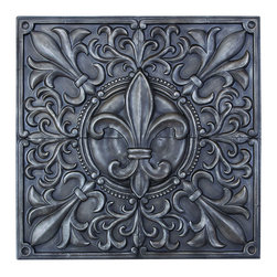 Benzara - Exclusive Fleur-de-Lis Themed Wall Plaque decor - An illustrious version of the fleur-de-lis, a symbol that is rich with European history, meaning  in. flower of a lily in. . What had started out as an artistic decoration in medieval Europe has grown to become political emblems, and symbols of royalty. The perfect wall plaque to place on a grand living room wall, or at the end of a long hallway.