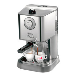 Gaggia - Gaggia Baby Class - Just like your hot neighborhood barista, this classy machine has both beauty and brains, with a gorgeous stainless steel exterior and a top-of-the-line interior mechanism designed to take the complication out of fine espresso making. The commercial-quality heating and pressure system works hard and smart so that you don't have to, making your coffee break the relaxing ritual it's supposed to be.