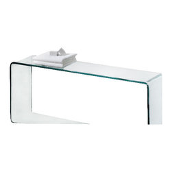Whitehaus - Whitehaus Whponte Glass Shelf - New Generation Ponte - large freestanding transparent glass shelf