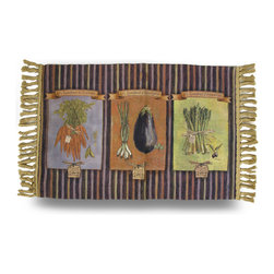 Zeckos - Susan Winget French Market Decorative Accent Rug 20x36 in. - This woven accent rug features the art of Susan Winget that'll add a colorful accent anywhere in your home, and is perfect for the kitchen or dining room featuring her 'French Market' design. It measures 36 inches long, 20 inches wide, and is made from 100% polyester with a non-slip backing to help keep it in place. With ease of care in mind, it's even machine washable in cold water (allow to air dry), to help keep it looking great This rug is a pretty accent for your home, and makes a wonderful gift for friends or family, and is a must-have piece for collectors of Susan Winget art.