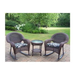 Oakland Living All-Weather Wicker Rocker Set