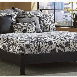 """FBG - Murray Platform Bed - This bed is perfect for a recent college grad or city dweller with limited space. Features: -Powder Coated Finish: No.-Gloss Finish: No.-Hardware Finish: Black.-Frame Material: Wood.-Solid Wood Construction: No.-Upholstered: No.-Number of Items Included: 1.-Hardware Material: Metal.-Non Toxic: Yes.-Scratch Resistant: No.-Mattress Included: No.-Box Spring Required: No.-Headboard Storage: No.-Footboard Storage: No.-Underbed Storage: No.-Slats Required: Yes -Number of Slats Required: 14.-Slats Included: Yes..-Center Support Legs (Size: Full): Yes.-Center Support Legs (Size: King): Yes.-Center Support Legs (Size: Queen): Yes.-Center Support Legs (Size: Twin): No.-Adjustable Headboard Height: No.-Adjustable Footboard Height: No.-Wingback: No.-Trundle Bed Included: No.-Attached Nightstand: No.-Cable Management: No.-Built in Outlets: No.-Lighted Headboard: No.-Finished Back: Yes.-Reclaimed Wood: No.-Number of Center Support Legs (Size: Full): 4.-Number of Center Support Legs (Size: King): 4.-Number of Center Support Legs (Size: Queen): 4.-Number of Center Support Legs (Size: Twin): 0.-Distressed: No.-Bed Rails Included: No.-Collection: Murray.-Eco-Friendly: No.-Recycled Content: No.-Wood Moldings: No.-Canopy Frame: No.-Hidden Storage: No.-Jewelry Compartment: No.-Weight Capacity: 600 lbs.-Swatch Available: No.-Commercial Use: No.-Product Care: Wipe with a clean, damp cloth.Specifications: -FSC Certified: No.-EPP Compliant: No.-CPSIA or CPSC Compliant: No.-CARB Compliant: No.-JPMA Certified: No.-ASTM Certified: No.-ISTA 3A Certified: No.-PEFC Certified: No.-General Conformity Certificate: No.-Green Guard Certified: No.Dimensions: -Overall Height - Top to Bottom (Size: Full): 11"""".-Overall Height - Top to Bottom (Size: King): 11"""".-Overall Height - Top to Bottom (Size: Queen): 11"""".-Overall Height - Top to Bottom (Size: Twin): 11"""".-Overall Width - Side to Side (Size: Full): 56"""".-Overall Width - Side to Side (Size: King): 79"""".-Overall Width - Side to """