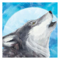Westland - 15 X 15 Inch Majestic Howling Grey Wolf with Full Moon Canvas Wall Art - This gorgeous 15 X 15 Inch Majestic Howling Grey Wolf with Full Moon Canvas Wall Art has the finest details and highest quality you will find anywhere! 15 X 15 Inch Majestic Howling Grey Wolf with Full Moon Canvas Wall Art is truly remarkable.