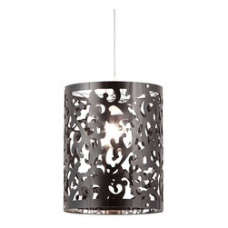 ZUO PURE - Casimir Ceiling Lamp Black - Casimir is elegant and classic. The Casimir ceiling lamp is an excellent way to add a splash of classic flare to a modern room. This lamp is created from an acrylic that is laser cut into the design. It's UL approved.