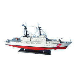 """Handcrafted Model Ships - USCG High Endurance Cutter 18"""" - Wooden United States Coast Guard Model - Sold fully assembled"""
