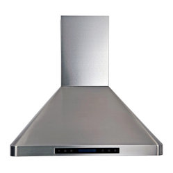 "Atlas International Inc - Euro Stainless Steel Range Hood 36"" - Cavaliere, Wall Mount - Cavaliere Stainless Steel 288W Wall Mounted Range Hood with 4 Speeds, Timer Function, LCD Keypad, Stainless Steel Baffle Filters, and Halogen Lights."