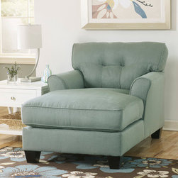 Signature Design by Ashley Kylee Lagoon Blue Fabric Chaise Lounge -