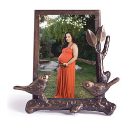 "Danya B - Iron and Glass Bird on Branch Metal Photograph Frame 6"" x 4"" - This gorgeous Iron and Glass Bird on Branch Metal Photograph Frame 6"" x 4"" has the finest details and highest quality you will find anywhere! Iron and Glass Bird on Branch Metal Photograph Frame 6"" x 4"" is truly remarkable."