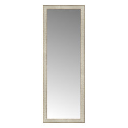 """Posters 2 Prints, LLC - 17"""" x 47"""" Libretto Antique Silver Custom Framed Mirror - 17"""" x 47"""" Custom Framed Mirror made by Posters 2 Prints. Standard glass with unrivaled selection of crafted mirror frames.  Protected with category II safety backing to keep glass fragments together should the mirror be accidentally broken.  Safe arrival guaranteed.  Made in the United States of America"""