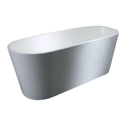 Venzi - Venzi PietraStone 28 x 67 Man Made Stone Freestanding Bathtub - Venzi offers the center piece to any master bathroom design with a freestanding bathtub from our luxurious PietraStone Collection. Crafted using high grade composite resin the resulting finish is a striking yet soft matt surface that is velvety smooth and warm to the touch. The solid heavy duty construction makes for a strong bathtub that is built to last as well as capturing the eye as the center for attention.