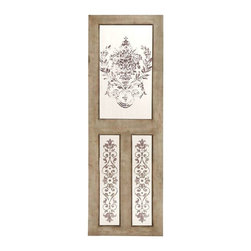 """BZBZ50953 - Wood Mirror Wall Decor with Floral Design - Wood Mirror Wall Decor with Floral Design. Exquisitely designed to add character to a space, this wood mirror wall decor makes your space look abounding. It comes with a following dimensions 24""""W x 1.5""""D x 78""""H."""