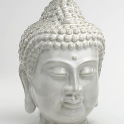 Cyan Design - Thai Buddha Sculpture - Thai buddha sculpture - off white glaze