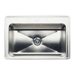 Blanco - Blanco Blancomagnum Single Bowl Drop-In Kitchen Sink, Satin (440280) - Blanco 501-118-8 Blancomagnum Single Bowl Drop-In Kitchen Sink, Satin