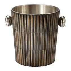 Lazy Susan - Burnt Horn Dowel Ice Bucket - -Handcrafted