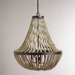 Large Wood Bead Chandelier - I have this light fixture in my dining room and love it.