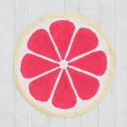 Plum & Bow Fruity Bath Mat, Pink - This bath mat would be great for a child's bathroom. It comes in a lime color as well, and the two paired together would be perfection.