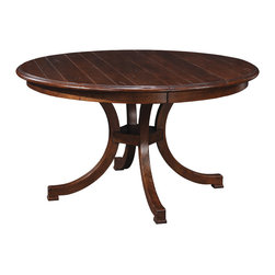 Stickley Exeter Round Dining Table Grooved Top 53400-60-GRV -