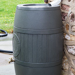 Spruce Creek RainSaver - So many areas of the country have seen severe drought.  A rain barrel is a great way to conserve water for those times when drought strikes.  It's amazing how quickly a rain barrel will fill up during a storm, giving you lots of water for your outdoor plants.