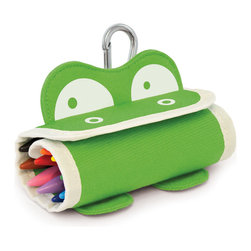 P'kolino - P'kolino Mess Eaters: Crayon Roll, Green - Roll me up before you go!
