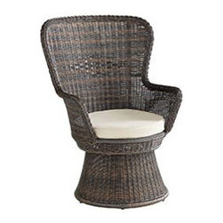 CoCo Cove Outdoor Swivel Chair - I love this swivel chair and its cool '70s vibe. These would be perfect for my outdoor patio.