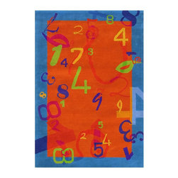 Dynamic Rugs - Kids Fantasia 3'x5' Rectangle Orange-Blue Area Rug - The Fantasia area rug Collection offers an affordable assortment of Kids stylings. Fantasia features a blend of natural Orange-Blue color. Hand Tufted of 100% Wool the Fantasia Collection is an intriguing compliment to any decor.