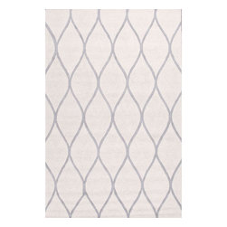 Jaipur Rugs - Jaipur Rugs Hand-Tufted Looped & Cut Wool Ivory/Gray Area Rug, 8 x 10ft - An urban contemporary styled rug collection that updates your living area with bold patterns. Ranging from soft neutrals to strong colors these rugs could live in any home.
