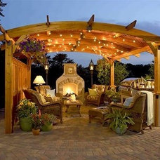 Traditional Deck Lighting by Lily Ann Cabinets