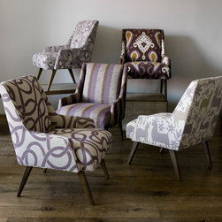 Living Rooms - The Pollino Chair by DwellStudio is available in a lot of fun fabrics from WWW.LOFTHOME.COM