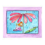 Oh How Cute Kids by Serena Bowman - April Showers, Ready To Hang Canvas Kid's Wall Decor, 24 X 30 - Part of my Fairy Nursery Rhymes series. I have several in the series for boy and girls!  Each are sold separately but coordinates with everything in the series for an easy fun room decor!