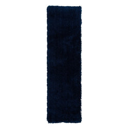 """Surya - Plush Mellow Hallway Runner 2'3""""x8' Runner Sapphire Blue Area Rug - The Mellow area rug Collection offers an affordable assortment of Plush stylings. Mellow features a blend of natural Sapphire Blue color. Handmade of 100% Polyester the Mellow Collection is an intriguing compliment to any decor."""