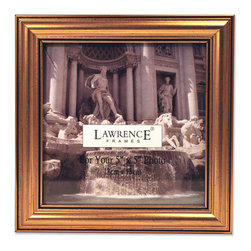 Lawrence Frames - Antique Gold Wood 5x5 Picture Frame - Classic Design - A classic gold color profile that has been complimenting homes for decades.  High quality black velvet backing with an easel for either vertical or horizontal tabletop display. Hand finished 5x5 picture frame is made with exceptional workmanship and comes individually boxed.
