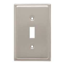 Liberty Hardware - Liberty Hardware 126364 Country Fair WP Collection 3.15 Inch Switch Plate - Sati - A simple change can make a huge impact on the look and feel of any room. Change out your old wall plates and give any room a brand new feel. Experience the look of a quality Liberty Hardware wall plate.. Width - 3.15 Inch,Height - 4.9 Inch,Projection - 0.2 Inch,Finish - Satin Nickel,Weight - 0.15 Lbs