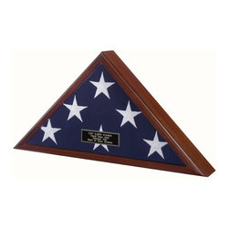 """Best Seller -Flag Display Case American Made! - """"USA Made Display Flag for 5ft x 9.5 ft Flag"""