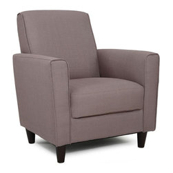 None - Enzo Pebble Stone Accent Chair - Premium grade fabric upholsters this sturdy and elegant chair. This comfortable seat is a fine addition to your home or office.