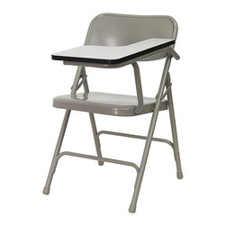 Flash Furniture - Flash Furniture Premium Steel Folding Chair with Left Handed Tablet Arm - The 309 Series Tablet Arm Chair is at the top of the line with premium grade steel construction to withstand years of use. This tablet arm chair can be used in the school, training room, sports facilities and other environments where individual seating is needed with the added bonus of a tablet arm.