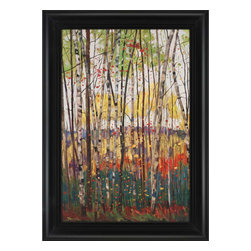 Paragon - Voile de Montogne - Framed Art - Each product is custom made upon order so there might be small variations from the picture displayed. No two pieces are exactly alike.