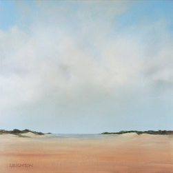 """Water'S Edge, Painting"" - ""A quiet beach with distant ocean. Peaceful, serene, inviting."""