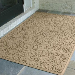 """Home Decorators Collection - Fall Day Water Guard Doormat - Protect the cleanliness of your home or office interior with the Water Guard Doormat. Its exclusive rubber-reinforced face grabs dirt, moisture and debris below the shoe level for clean feet and cleaner floors. The """"water dam"""" border design keeps water inside the mat, which can hold over a gallon of water at its largest size. Best of all, these outdoor rugs are certified slip resistant by the National Flooring Safety Institute. Get it today and keep the great outdoors off your floors. Unique ridge construction effectively traps dirt and moisture. Premium 30 ounce anti-static fiber system dries quickly and is guaranteed against fading, rotting and mildewing. Rubber backing made from 20 to 25% recycled rubber. Certified slip resistant by the National Flooring Safety Institute."""