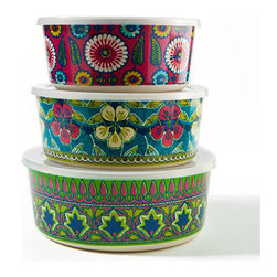 Bamboo Bowls With Lids - These lidded bamboo bowls are great for storage or taking snacks on the go!
