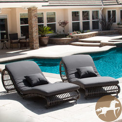 Christopher Knight Home - Christopher Knight Home Miller Grey Wicker Lounge Chairs (Set of 2) - These Miller grey wicker lounge chairs give you the perfect spots to recline in elegant comfort in your outdoor space. Complete with soft, weather-resistant cushions and matching throw pillows, you're sure to spend hours relaxing by the pool.