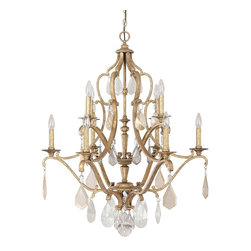 Capital Lighting - Capital Lighting Blakely Traditional Chandelier With Painted Crystal X-CP-GA0814 - Capital Lighting Blakely Traditional Chandelier With Painted Crystal X-CP-GA0814
