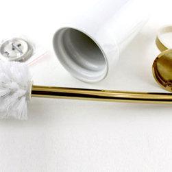 Polished Brass Bathroom Toilet Brush Holder - ●Luxury Polished Brass Bathroom Toilet Brush Holder J-106