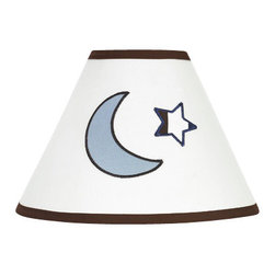 Sweet Jojo Designs - Starry Night Lamp Shade by Sweet Jojo Designs - The Starry Night Lamp Shade by Sweet Jojo Designs, along with the bedding accessories.